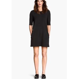 H&M Dark Gray Jersey Mini Dress